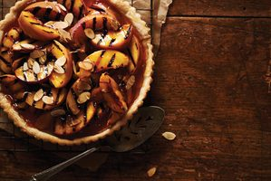 Fresh Peach Tart with Almonds and Honey