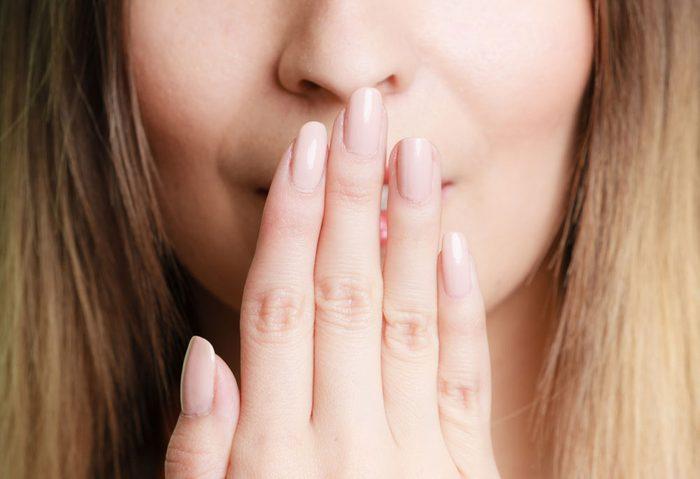 dehydrated bad breath