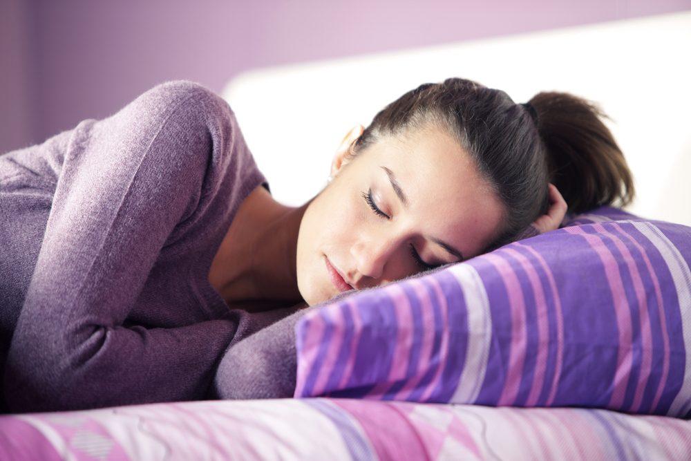 Woman with Sleep Anxiety