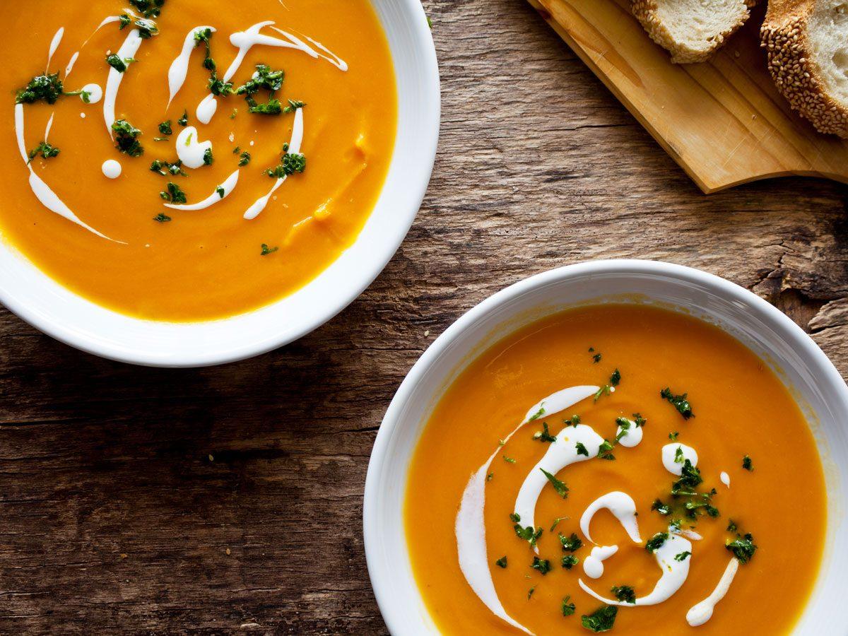 carrot recipes | sweet potato and carrot soup