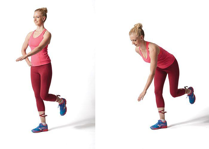 Knee Exercise- Single Legged Reach