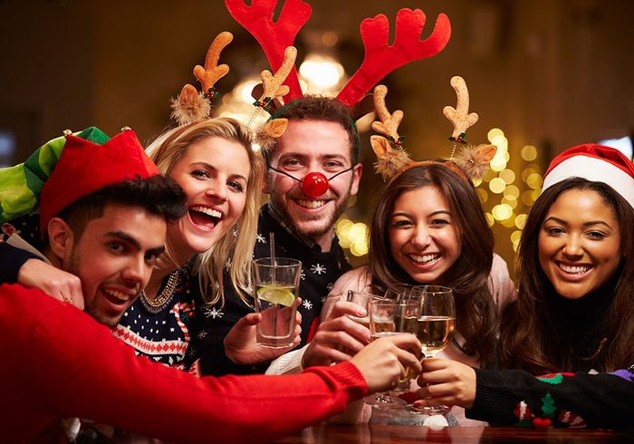 stay healthy during the holidays - friends over the holidays