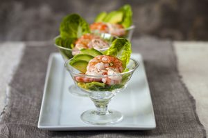 Avocado and Shrimp Appetizer Parfait