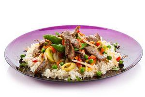 Roast Beef and Rice Salad