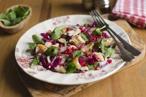 Diet-Friendly Turkey and Pomegranate Salad