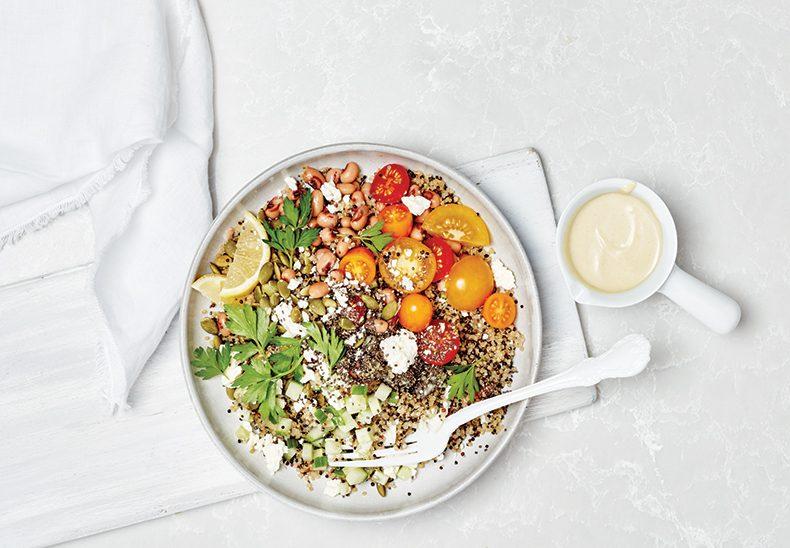 quinoa black eyed pea salad | citrus recipes