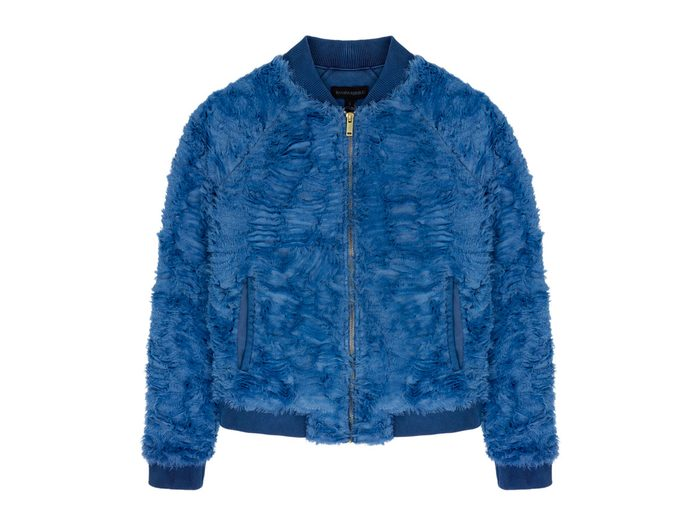 Pieced Fleece Bomber Jacket