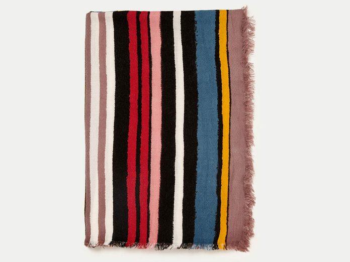 Multicoloured Soft Striped Scarf