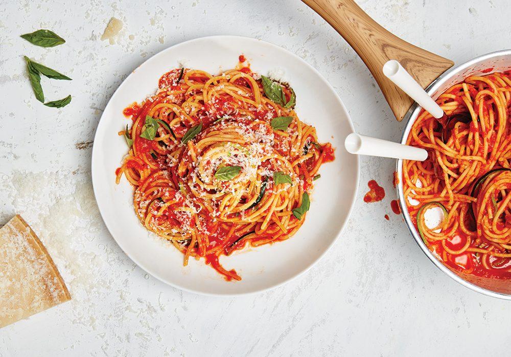 eat more veggies | spagetti