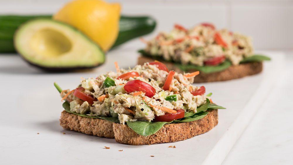 open faced tuna sandwich