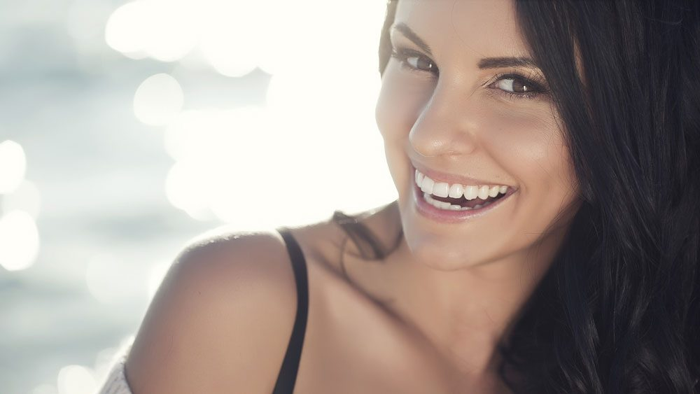 happy woman with great skin