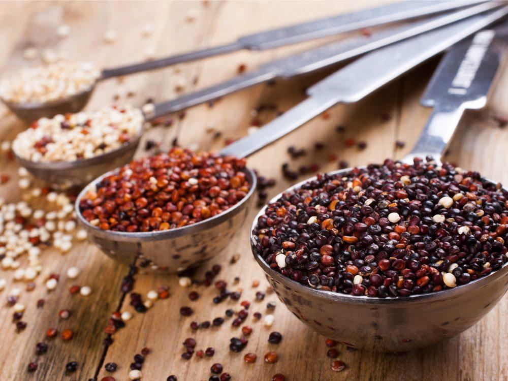 This quinoa recipe is a tasty vegan breakfast idea.