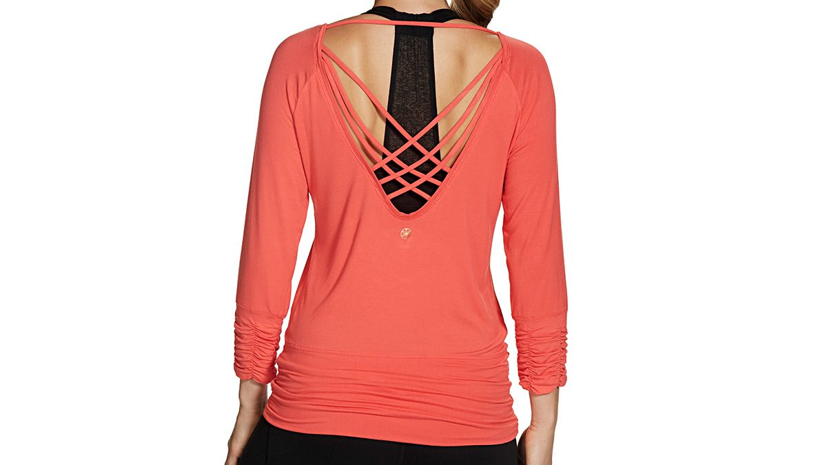 Deep V top with straps