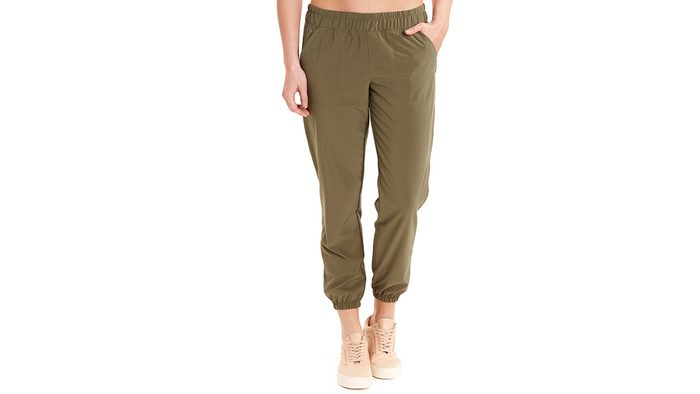 fashionable hiking pants by lole in a pretty olive green