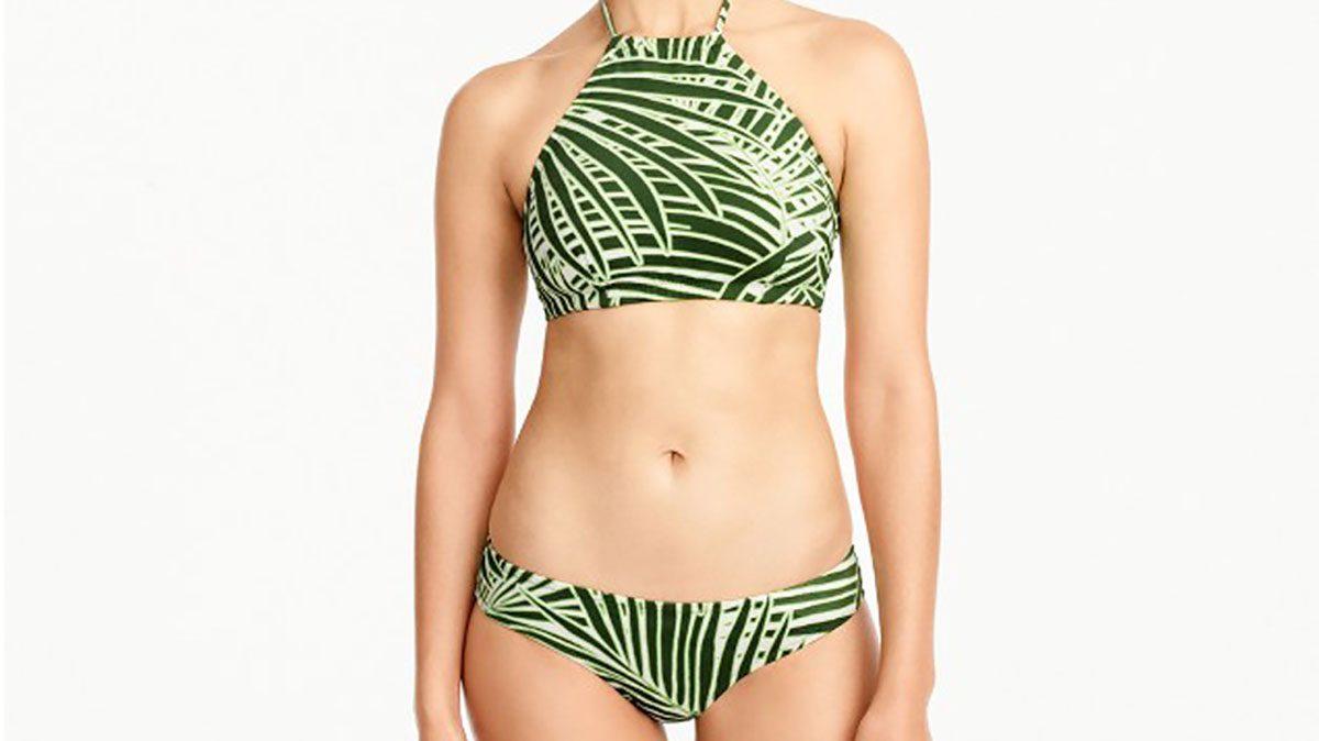 Palm halter bikini