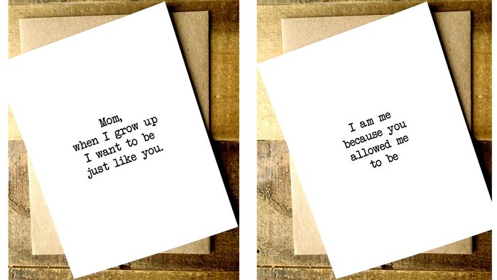 Sentimental Mother's Day Gifts: cards with sweet messages