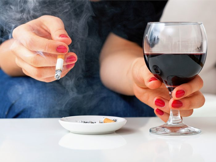 You've started using alcohol, cigarettes, or other substances more.