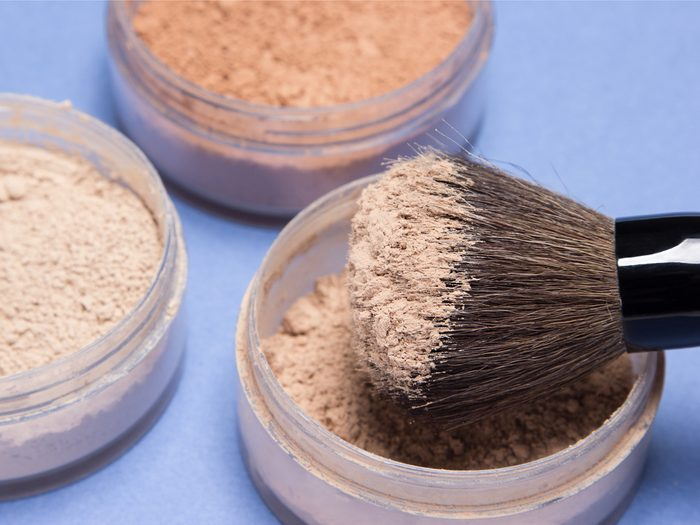 Finishing with powder is a makeup mistake that can age your face