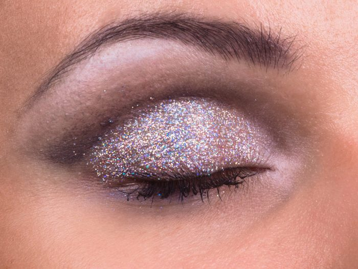 Picking a shimmery eye shadow is a makeup mistake that can age your face