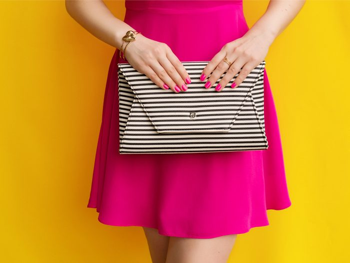 Keep your bag proportionate to look thinner