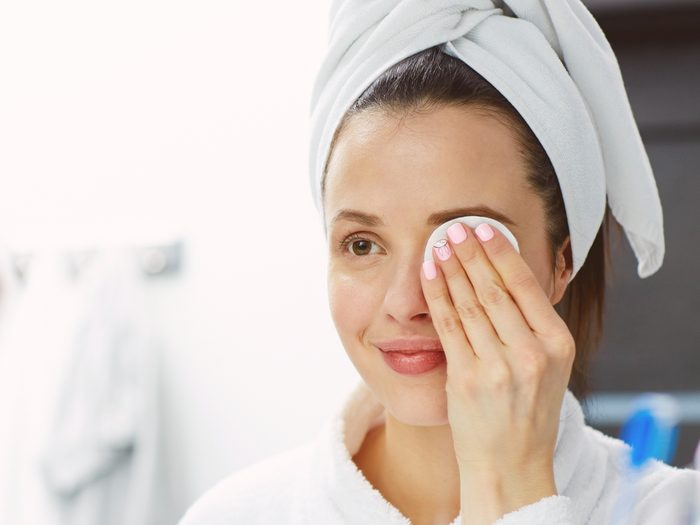 People with great skin make a nightly habit of cleansing gently