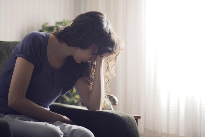 stressed, depressed woman