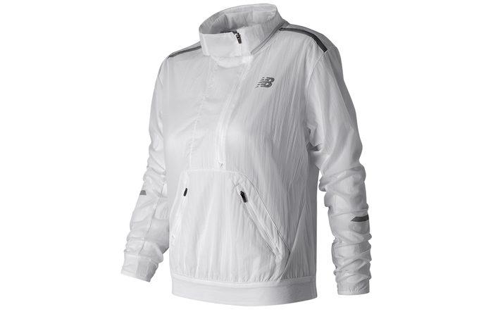 Best running jacket, white New Balance Anorak