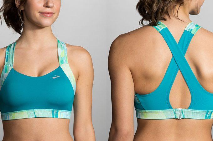 Best sports bra, blue Brooks running bra