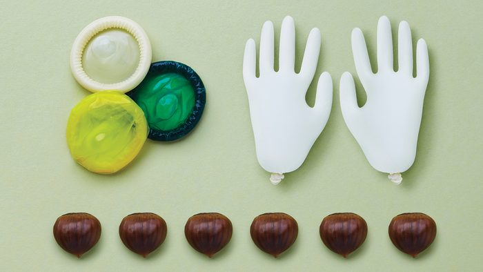 household allergy to latex and chestnuts