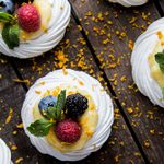 Lime Curd Pavlova with Fresh Berries