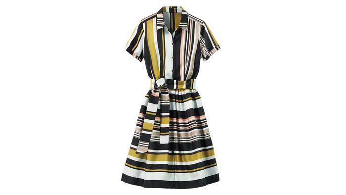 Striped dress for rectangle body shape