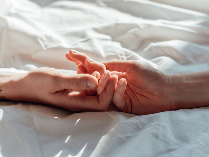 have better sex | holding hands