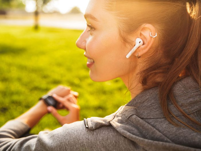ringing ears | woman listening to music