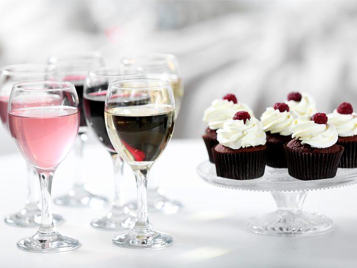 Remember to choose between wine or dessert