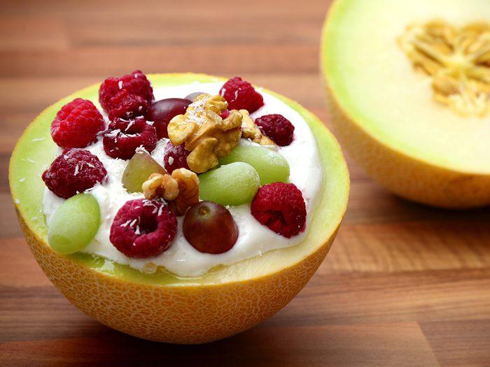 Melon yogurt bowl