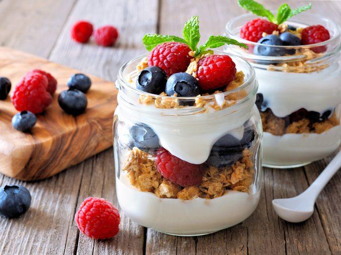 Granola yogurt parfaits on-the-go