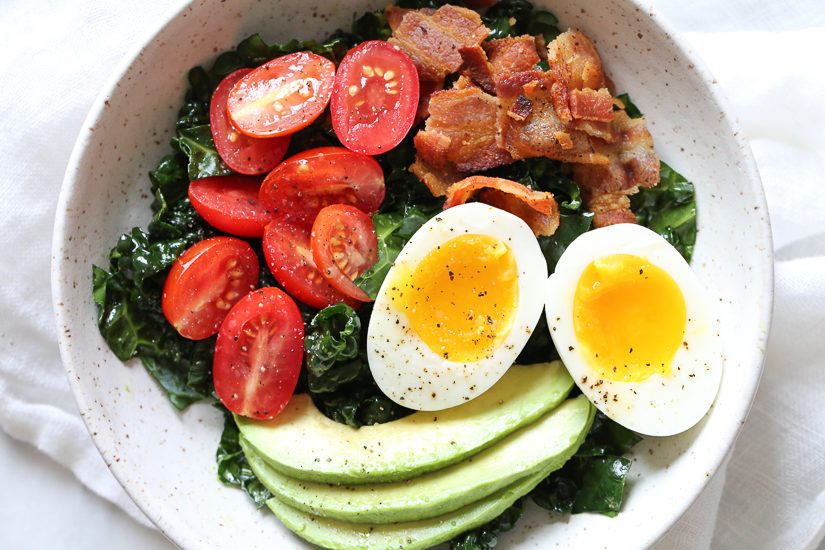 quick and easy breakfast ideas   healthy breakfast   BLT bowl