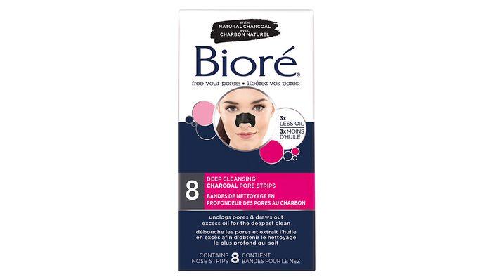 skin savers biore charcoal strips, packaging