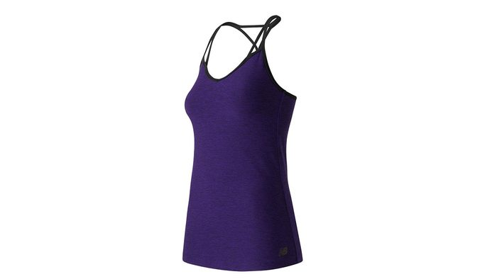 Summer fitness fashion strappy purple tank by New Balance