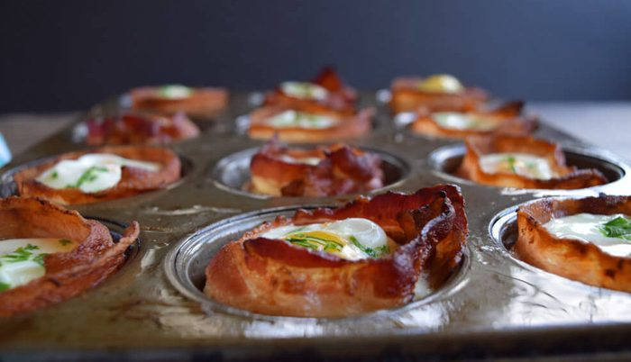 quick and easy breakfast ideas | healthy breakfast | bacon egg cups