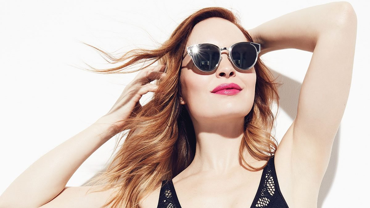 diagnosed with melanoma, woman wearing sunglasses