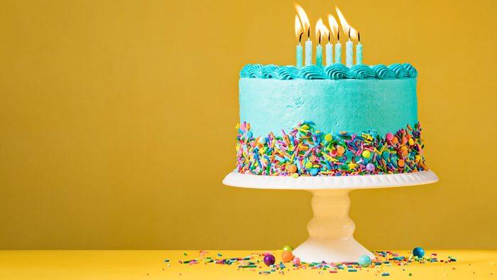diagnosed with melanoma, a birthday cake