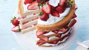 Mile-High Strawberry Shortcake