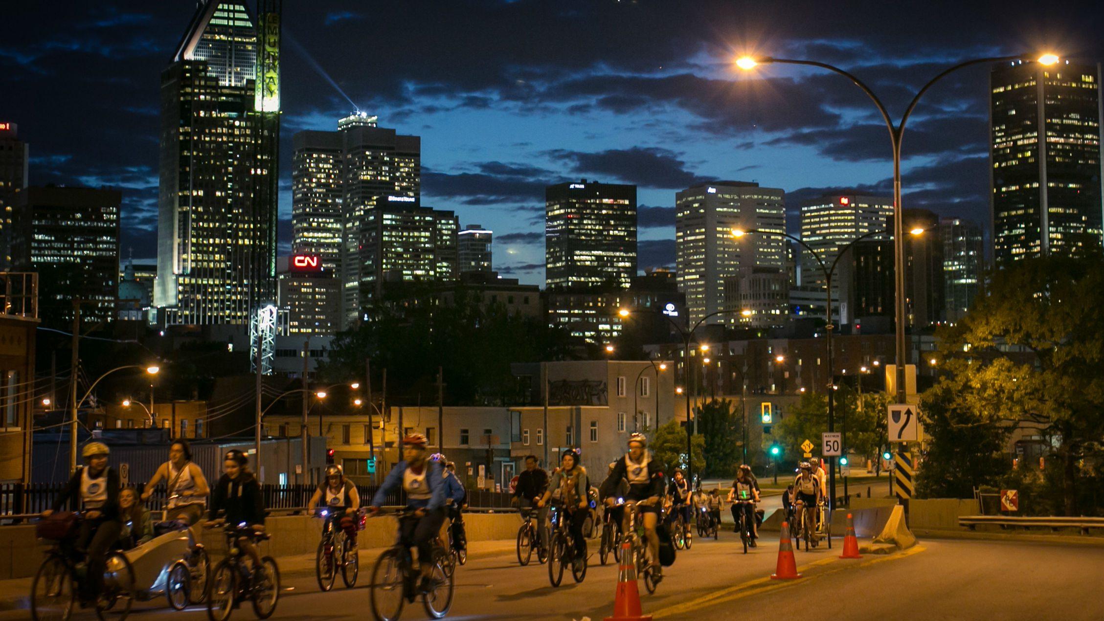 night biking gear 2017, tour de velo montreal