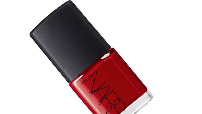 summer pedi colour, a deep red