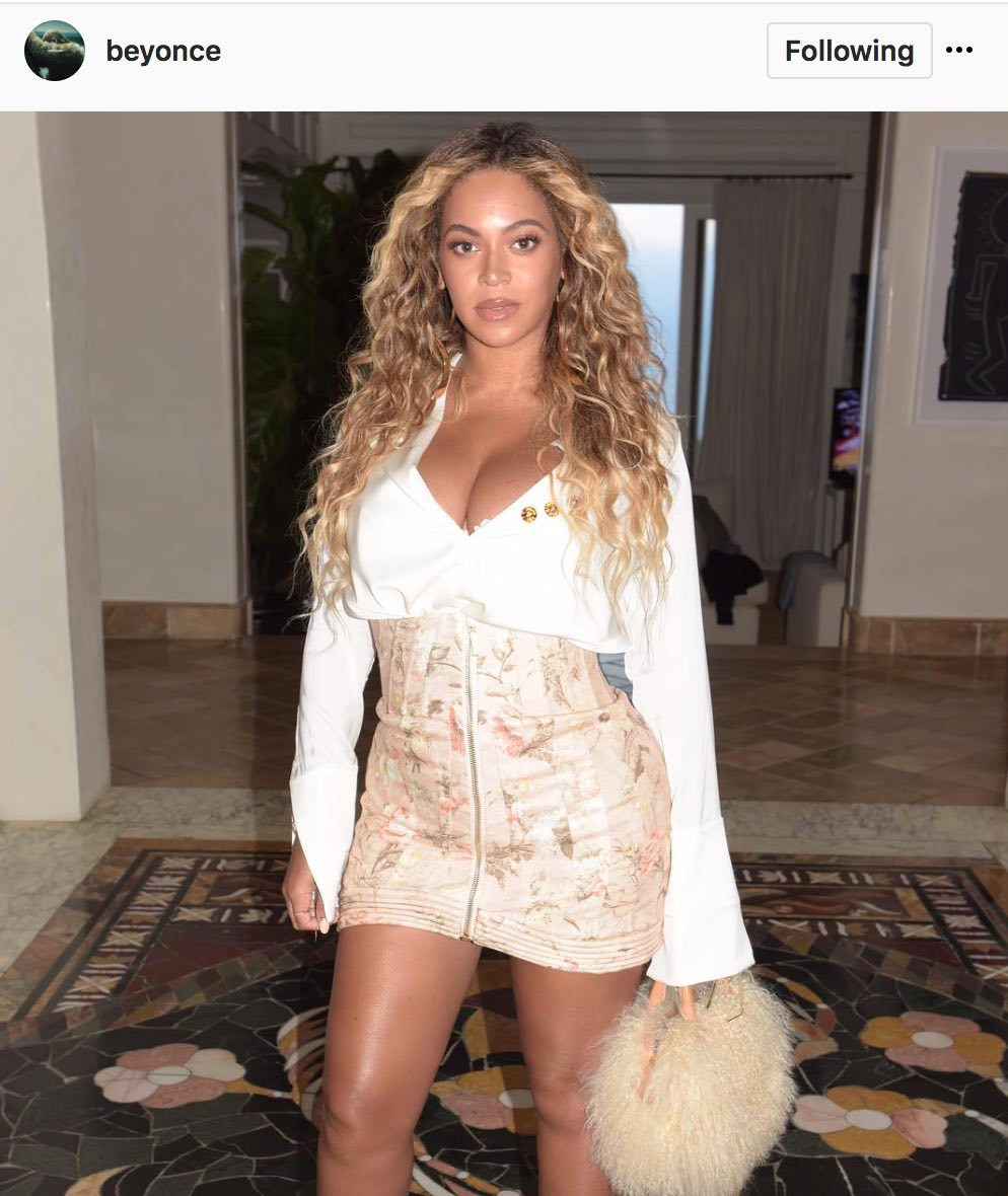 Beyonce post pregnancy, her first instagram post since the twins