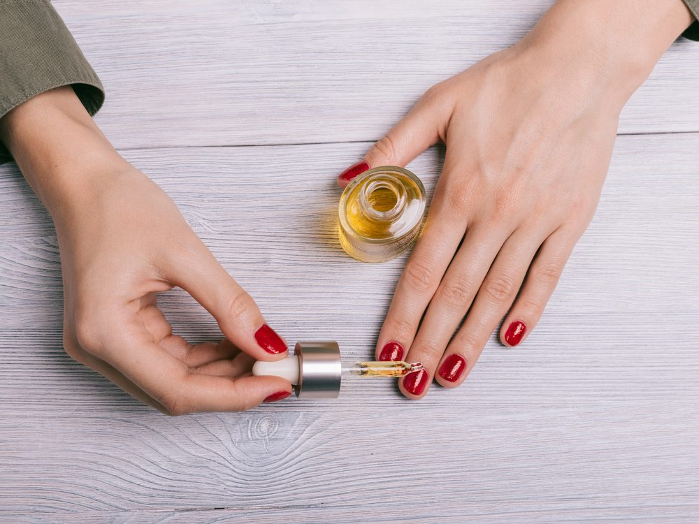 Apply cuticle oil throughout the week to make your manicure last longer