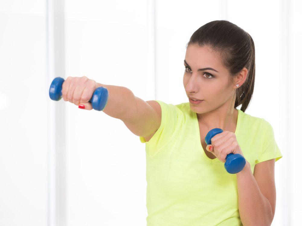 Avoid doing dumbbell punches