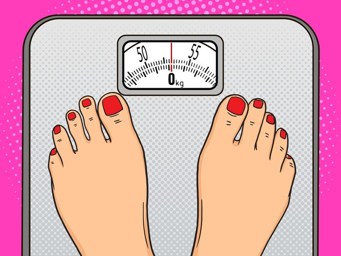 Gaining weight around the waist is a sign of perimenopause