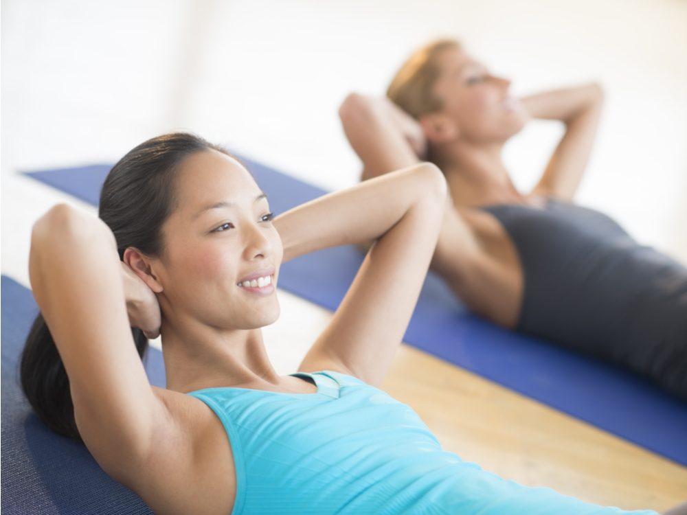 Avoid doing crunch exercises